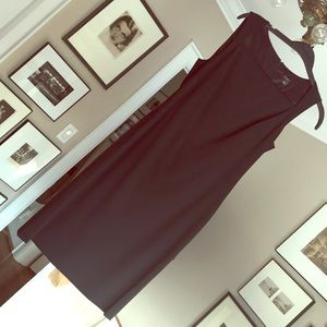 Ann Taylor Sleek Black Sheath Dress